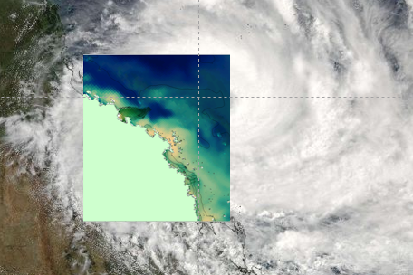 "eReefs was able to ""see through' the clouds of Cyclone Debbie in late March 2017"