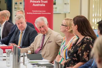 Prince Charles flanked by Foundation MD Anna Marsden and GBRMPA Chair and CEO Dr Russell Reichelt at the Reef Roundtable