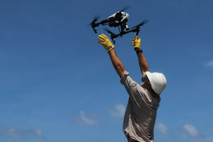 Using drones at Raine Island, Great Barrier Reef Foundation