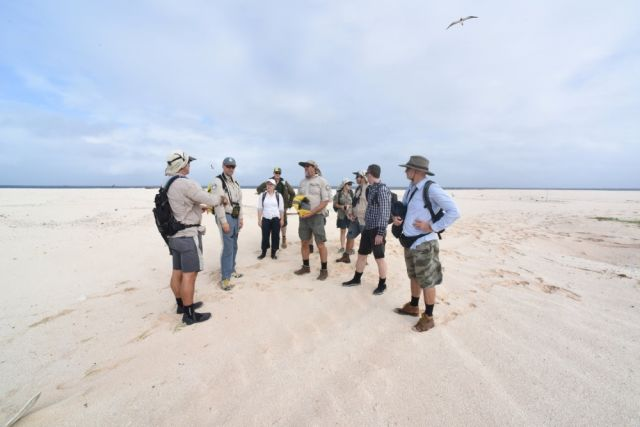 BHPB staff on Raine Island with the project team